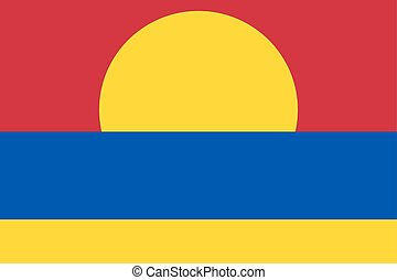 Standard Proportions for Palmyra Atoll Unofficial Flag -...