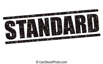 Standard grunge rubber stamp on white background, vector illustration