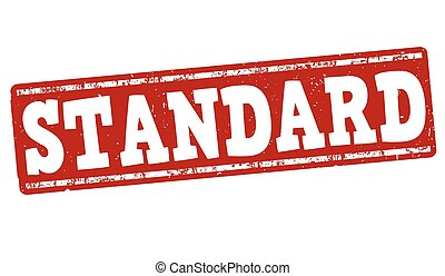 standard stamp grunge rubber stamp with text standard vector