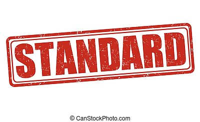 Standard stamp - Standard grunge rubber stamp on white...