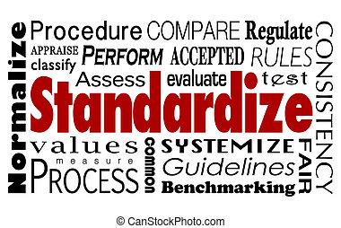 Standardize Word Collage Measure Consistent Process