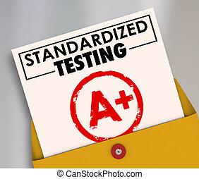 standardized, classement, essai, commun, rapport, consi, évaluation, carte