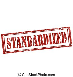 Standardized-stamp - Grunge rubber stamp with text...