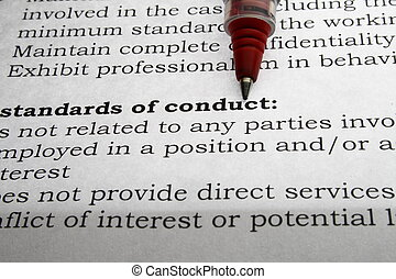 Standards of COnduct - Legal business or law related...