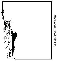 standbeeld, 8, vector, eps, vrijheid