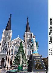standbeeld, katholiek, reine mary