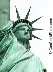 standbeeld, nieuw, vrijheid, usa, york