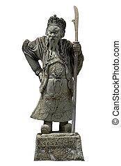 standbeeld, van, zwaard, man, op, wat pho
