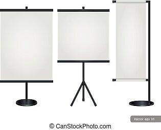 stander, tentoonstelling, display., handel