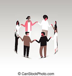 standing, appartamento, concetto, gruppo, mondo, persone, manifesto, medico, consapevolezza, miscelare, corsa, associazione, tenere mani, aiuti, cerchio, giorno, prevenzione
