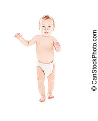 standing baby boy in diaper - picture of standing baby boy...