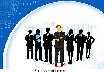 Standing Business People