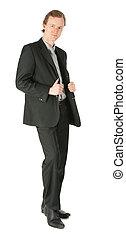 Standing businessman