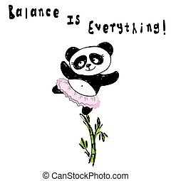 standing, carino, equilibrio, everything!, panda, bambù