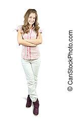 standing casual teen