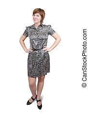 Standing girl in dress
