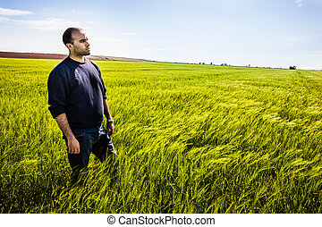 Standing in the grass
