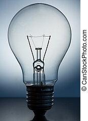 standing, luce, grande, chiudere, bulbo, su