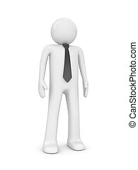 Standing man with tie - People at office series; 3d isolated...