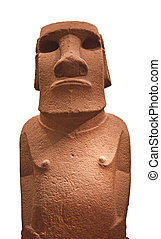 Standing Moaia from the Easter Island.
