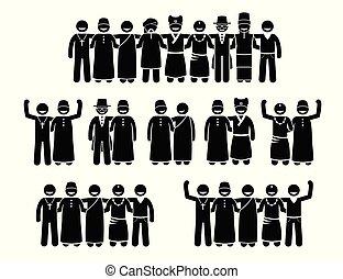 standing, multicultural, cultura, religioni, multirazziale, insieme., umano, pacifico, mescolato