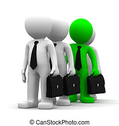 Standing Out from the Crowd. Conceptual business image