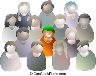 standing out from the crowd - icon people series