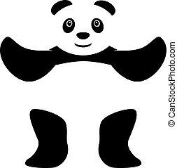 Standing panda vector