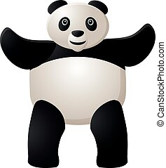Standing panda with raised hands