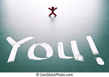 standing, persona, parola sola, lei