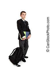 Standing school student
