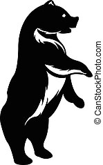 standing, silhouette, orso