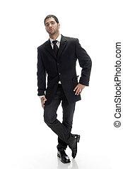standing smart businessman