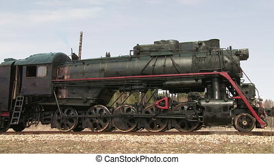 standing steam train