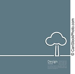 standing, stile, disposizione, albero, simbolo, sagoma, solo, logotipo, corporativo