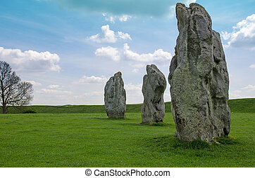 Standing stones at Avebury, England - Standing stones at...