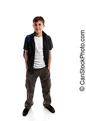 Standing student hands in pockets