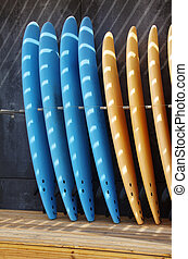 Standing Surf boards