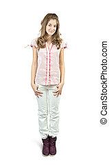 standing teen