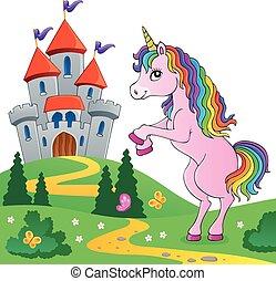 standing, tema, unicorno, immagine, 6