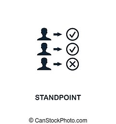Standpoint icon. Premium style design from business management icon collection. Pixel perfect Standpoint icon for web design, apps, software, print usage