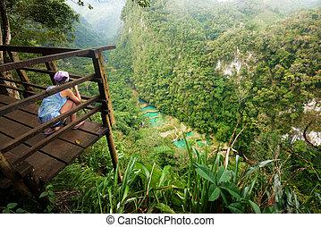 standpunkt, an, kaskaden, nationalpark, in, guatemala, semuc, champey