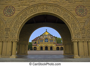 Stanford Chapel through an Arch