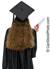 stanie samica, dyplom, skala, wstecz, student