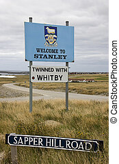 Port Stanley in the Falkland Islands (Islas Malvinas)