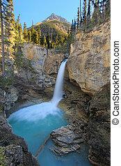 Stanley falls in Beauty creek canyon, Jasper national park...