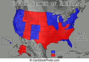 stany, 2012, zjednoczony, wyniki, wybór