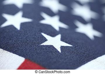 stany, bandera, zjednoczony, closeup, gwiazdy