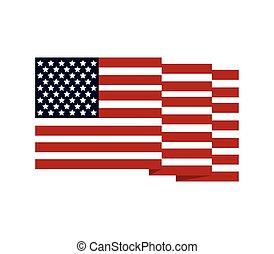 stany, bandera, zjednoczony