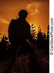 stany, obieżyświat, zjednoczony, armia